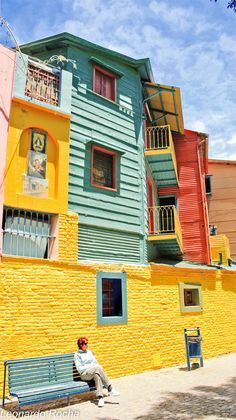 Colors of Argentina ~ La Boca, Buenos Aires. I want to go Argentina! Places Around The World, Oh The Places You'll Go, Places To Travel, Places To Visit, Around The Worlds, Central America, South America, Latin America, Argentine Buenos Aires