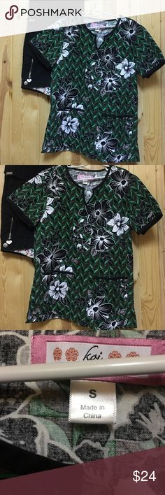 Koi Scrub Set Small Top Small Petite Pant EUC Excellent Used Condition Koi Scrub Top with 2 Front Pockets Pant is Sara Pant Small Petite Accepting Reasonable Offers Koi Other