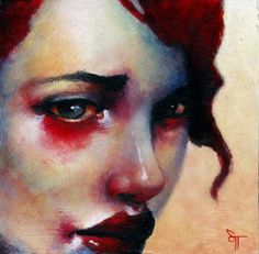 beautiful painting.  Really captures the way  your face feels when you've been crying