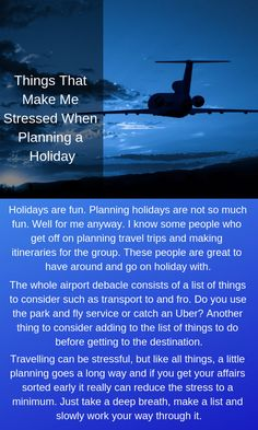 Holidays are fun. Planning holidays are not so much fun. Well for me anyway. I know some people who get off on planning travel trips and making itineraries for the group. Plan A, How To Plan, Readers Digest, Going On Holiday, Trip Planning, Sydney, Travelling, Stress, Things To Come