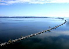 Island Line trail - Burlington Vermont. (A 4 mile long converted rail trail that extends across Lake Champlain).