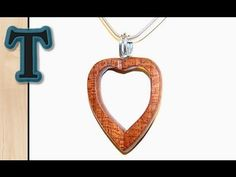 ▶ Inside Out Woodturning   Turning a Heart Pendant - YouTube