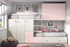 Different Types Bedroom Furniture And How To Make Your Bedroom Beautiful – Home Decor World Bunk Bed Designs, Girl Bedroom Designs, Small Room Bedroom, Girls Bedroom, Small Rooms, Small Spaces, Master Bedroom, Kids Bedroom Furniture, Bedroom Decor