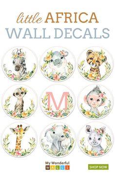 Sticker window child animals jungle ref 1030 1030