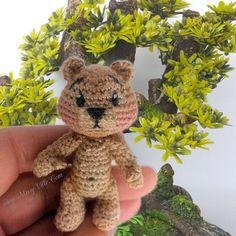 3 8cm Mini Teddy Bear. OOAK Custom Mini Micro Thread by MissyVille