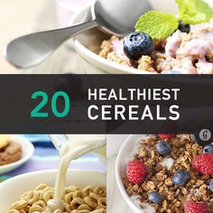 Healthiest Cereal Brands - some might argue that no cereal is healthy but I& not willing to totally give up on grains yet. Healthy Cereal Brands, Is Cereal Healthy, Healthy Breakfast Cereal, Breakfast Ideas, Healthy Snacks, Healthy Eating, Healthy Recipes, Clean Eating, Healthy Foods