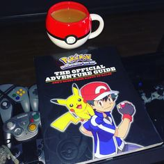 On instagram by 8bittothefuture  #gameboy #microhobbit (o)  http://ift.tt/1mUQ0YL  This is how you start off the New Year right with my Pokeball mug from @miss_jae23 and this book outlining Ash's adventures in the anime. Happy New Year and all the best to all of you in 2016 #nintendo #nintendogameboy  #pokemon #pokeball #ash #pikachu #gottacatchemall #mug #book #coffee #newyear #2016 #anime #cartoon #tvshow #gamer #games #gaming #retro #oldschool #newschool #collector #collection #videogames…