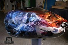 Airbrushed Motorcycle by Mike Lavallee at Killer Paint for Time Bandit Captain, John Hillstrand of the Deadliest Catch - www.killerpaint.com