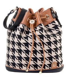 Look at this Black Stoddard Daufuskie Leather-Accent Bucket Bag on #zulily today!