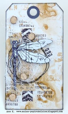 Ana K. : Just Playing.No Rules Card Tags, Gift Tags, Handmade Tags, Paper Tags, Artist Trading Cards, Tampons, Art Journal Inspiration, Distress Ink, Tag Art
