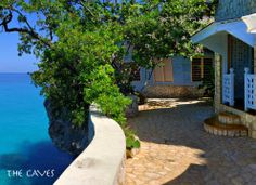 The Caves Resort in Jamaica - twelve cliff-side accommodations. There are coral stairways, grottos, caves and private nooks to explore.