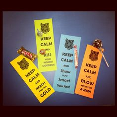 KEEP CALM messages + treat on the FCAT