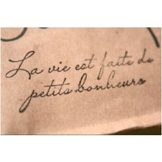 Tattoo quote: life is full of little pleasures, (you are the greatest)