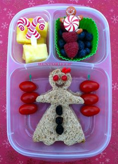 #Gingerbread girl bento by bentoriffic