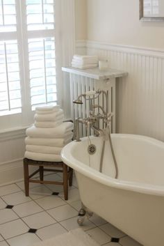 Marble on radiator to keep towels warm?  I think so!