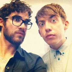 Darren Criss and Kevin McHale