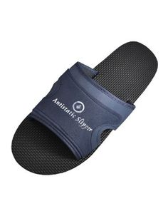 US 10 Black Navy Blue Foam Anti Slip Antistatic ESD Slippers for Men