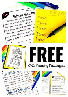 FREE Phonics Based Reading Passages - Perfect for practicing CVCe words in context | phonics passages free | free printables worksheets | free teaching resources teachers | free reading passages | teaching reading | 1st grade reading worksheets | 2nd grade reading passages | tpt freebies | first grade reading second grade reading kindergarten reading practice