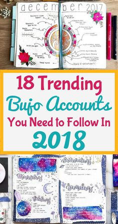 What you've been waiting for, here is the list of the 18 most inspirational and influential bullet journal accounts for 2018! This article brings everything bujo straight to you! Get information about layouts, blog posts, ideas, setup, supplies, and so much more. This is a perfect place if you want to know how to start a bullet journal. Go check out all the artists, and be prepared to enjoy a full calendar year of inspiration! #bulletjournal #bulletjournalcommunity #bulletjournalideas #bujo
