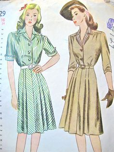 Vintage 1940s sewing pattern by
