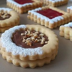 Cookie Desserts, Cookie Recipes, Dessert Recipes, Christmas Desserts, Christmas Baking, Mini Pastries, Italian Cookies, Cafe Food, Biscuit Recipe