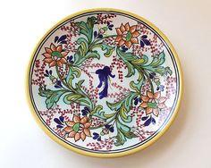 Pottery Vintage 1963 Puebla Talavera Pottery Plate