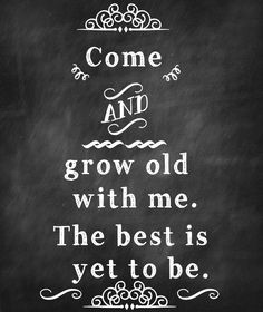"""""""Come and grow old with me. The best is yet to be."""" Happy birthday to English poet, Robert Browning."""