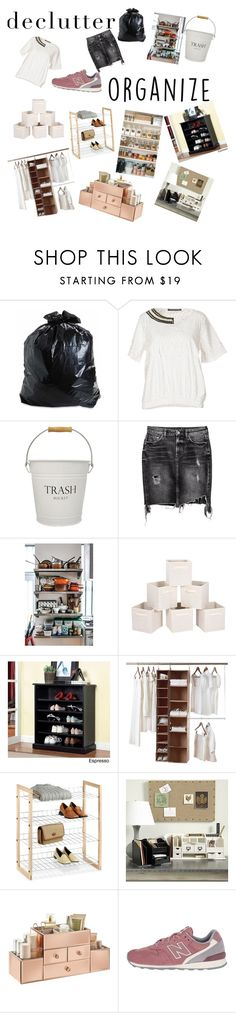 """Out with the old, in with the new"" by arianapedroza ❤ liked on Polyvore featuring interior, interiors, interior design, home, home decor, interior decorating, Trash and Luxury, InterDesign, H&M and Furniture of America"