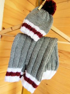 Work Sock Bunting Bag & Beanie Knitting pattern by Diana Poirier