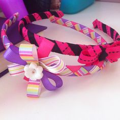 Skinny woven headbands with bows