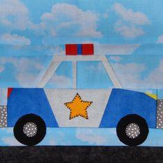 Police Car Paper Pieced Quilt Block   Craftsy