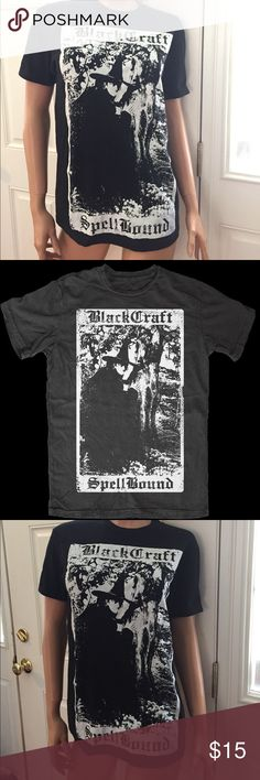 Blackcraft spellbound tarot card black t shirt S Blackcraft spellbound tarot card t shirt size S regular fit awesome condition bought this here but decided to get a different size #bbc#blackcraft #black craft cult blackcraft Tops Tees - Short Sleeve