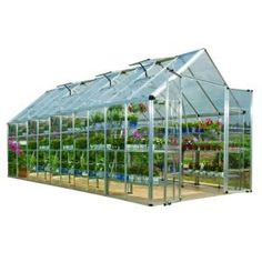 Palram Snap and Grow 8 ft. 2 in. x 20 ft. 2 in. Polycarbonate Greenhouse-701525 at The Home Depot -- $2198