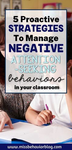 5 Strategies to Decrease Attention Seeking Behaviors. Understanding the functions of behavior can help reduce behaviors in the classroom. Learn long-term and short-term strategies to stop attention seeking behaviors with your students. Attention seeking lessens when... Classroom Behavior Management, Behavior Plans, Student Behavior, Classroom Jobs, Behavior Analyst, Behavior Interventions, Attention Seeking Behavior, Secondary Teacher, Social Emotional Learning