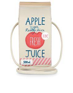 Apple Juice Bag | Multi | Accessorize