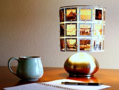 Turn special photos or Instagrams into a lampshade. | Turn special photos or Instagrams into a lampshade.
