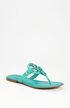 Tory Burch 'Miller' Patent Sandal available at Nordstrom~~Yep, just bought these, and love them! can't wait for spring/summer! Cute Sandals, Cute Shoes, Me Too Shoes, Fashion Shoes, Fashion Accessories, Girl Fashion, Tory Burch Sandals, Miller Sandal, Crazy Shoes
