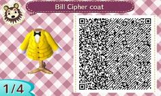 Bill Cipher coat in Animal Crossing New Leaf