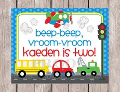 DIY Printable- On the Move Sign for Birthdays, Room Decor, Baby Shower and More - Transportation, Cars, Trucks, Airplane, School Bus