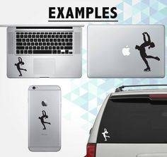 Ice skating sticker Car Laptop Vinyl Decal by InfinityStickers