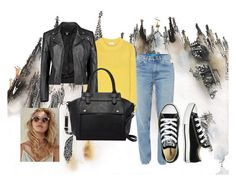 """Untitled #148"" by belma11 ❤ liked on Polyvore featuring M.i.h Jeans, Acne Studios, Boohoo, Pink Haley and Converse"