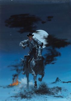 artist/illustrator ROBERT MCGINNIS (American, 1926-)_ Marauder's Moon, paperback cover, 1959