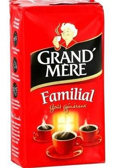 """Components:  Packaging:light(compact rectangular standard form). Not very innovative.  Set:Bright red color(reminder of warm family atmosphere). Writing """"Familial"""" & 3 cups -> evoke targeted segment. Picture of Grandma alludes to values of conservative french family. Functions:  Technics: Easy to store & transport, good protection.  Communication: Attractive colour; same initial graphic (brand recognition). Traditional brand (story-telling), affordable, good grandma's coffee, friendly moment"""