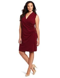 Kenneth Cole Women's Plus Size Wrapped Dress « Clothing Impulse