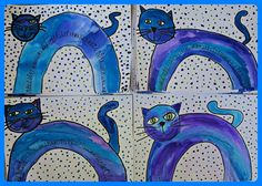 Painting Lessons, Painting For Kids, Art Lessons, Art For Kids, Crafts For Kids, Easy Art Projects, School Art Projects, Splat Le Chat, Kids Part