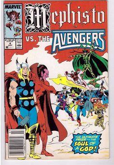 Mephisto VS Avengers 4 F July 1987 Marvel Comics for sale online Marvel Comics Art, Avengers Comics, Marvel 3, Marvel Heroes, Marvel Characters, Mephisto Marvel, Comic Book Covers, Comic Books, Comics For Sale