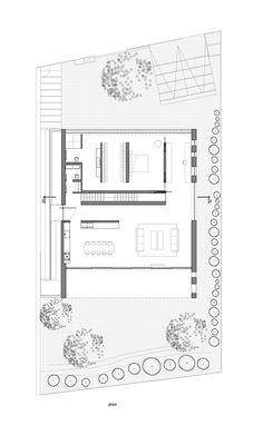Uma casa para um arquiteto,Planta - Térreo