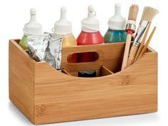 ORGANIZER NA KOSMETYKI BAMBUSOWY POJEMNIK ZELLER 8896332005 - Allegro.pl Bamboo Box, Organiser Box, Office Accessories, Storage Boxes, Wicker Baskets, Solid Wood, Objects, Make Up, Worth It