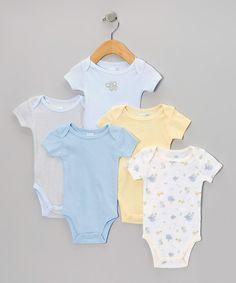 Vitamins Baby Blue Nursery Animals Bodysuit Set - Infant | zulily