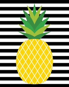 """These cute pineapple printables will make a stylish addition to your home decor! Bonus pineapple gift tags are perfect for gift-giving! cute home decorations """"Fine-Apple"""" Pineapple Printables + Gift Tags - Happiness is Homemade Pineapple Gifts, Cute Pineapple, Pineapple Pictures, Pineapple Wallpaper, Adult Party Themes, Tropical Party, Classroom Decor, Cute Wallpapers, Printable Art"""